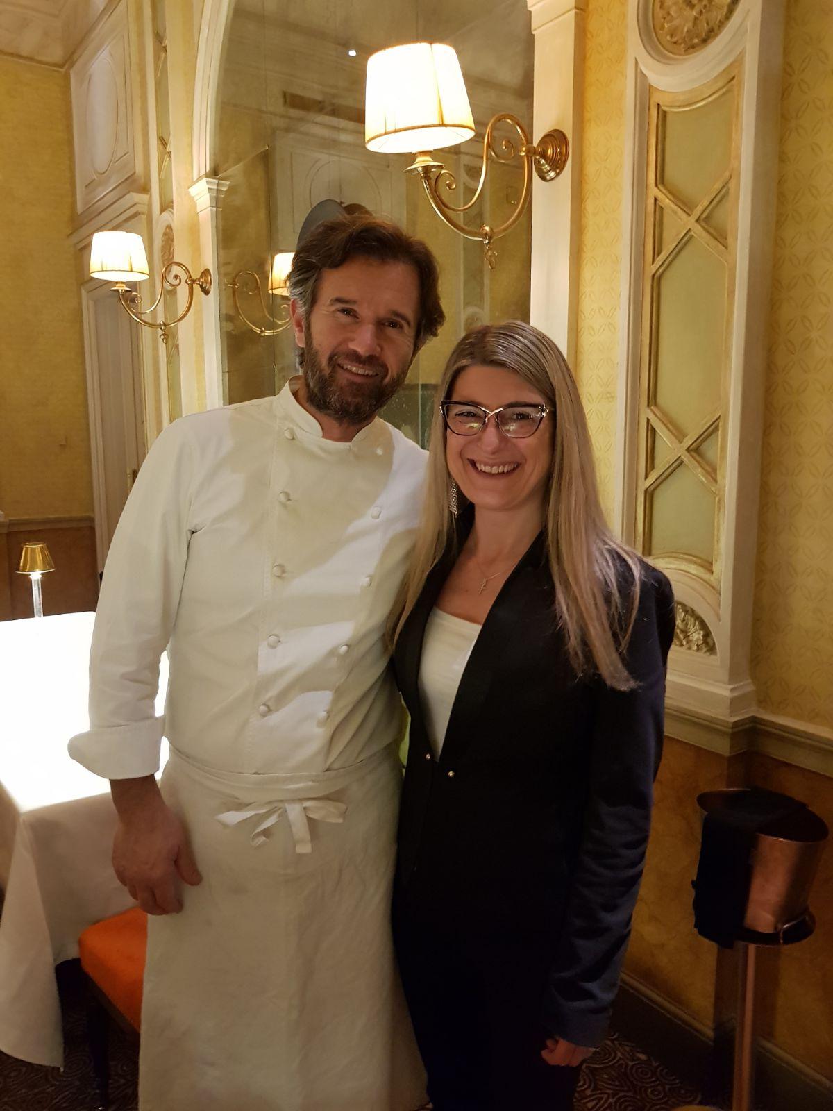 Carlo Cracco e Francesca Orlando