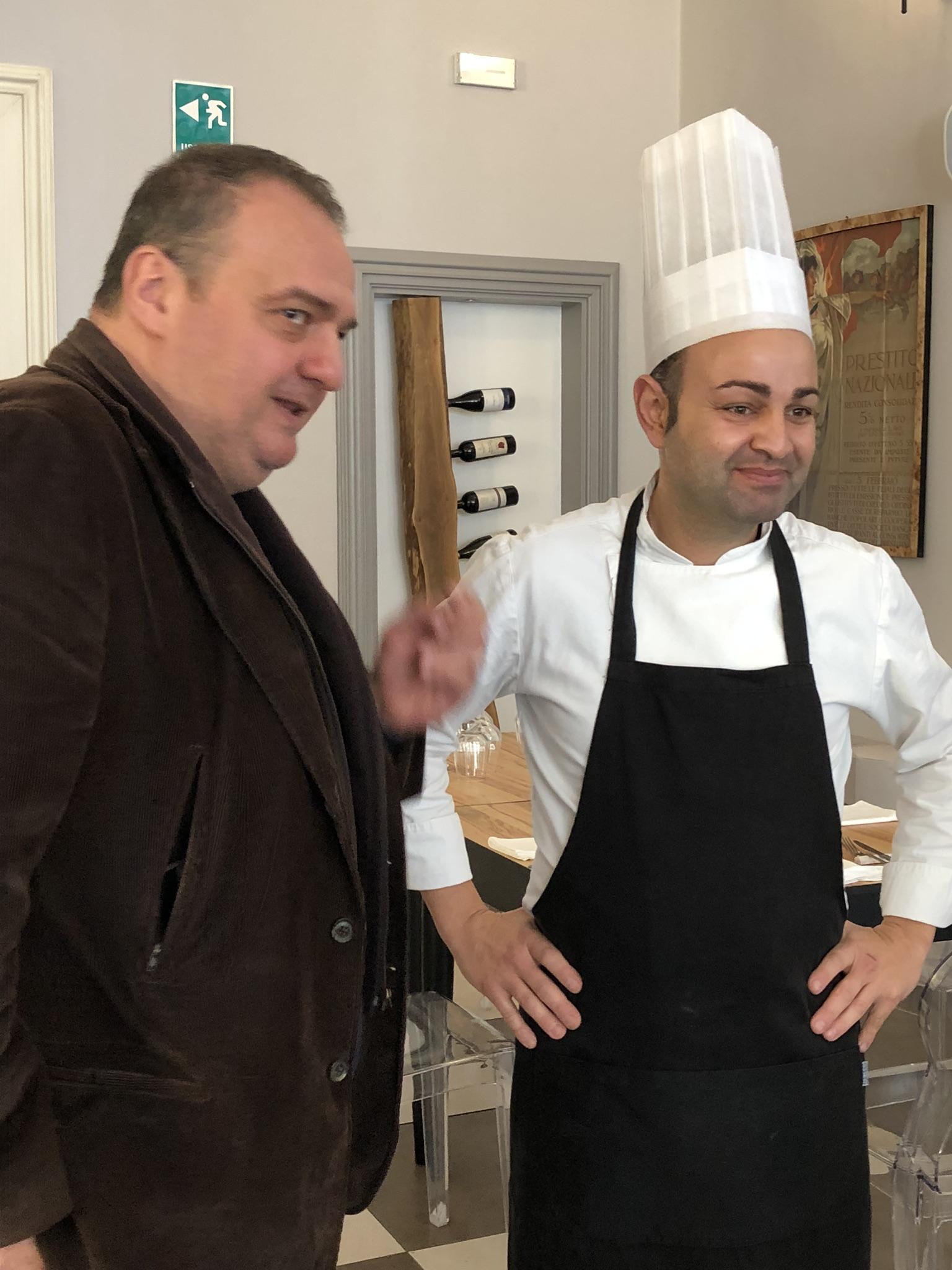 La banca Ristorante Emanuele Specchia e Paolo Trevisani